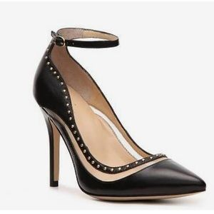 Levity Kimi Pump Black Pointed Toe Ankle Strap